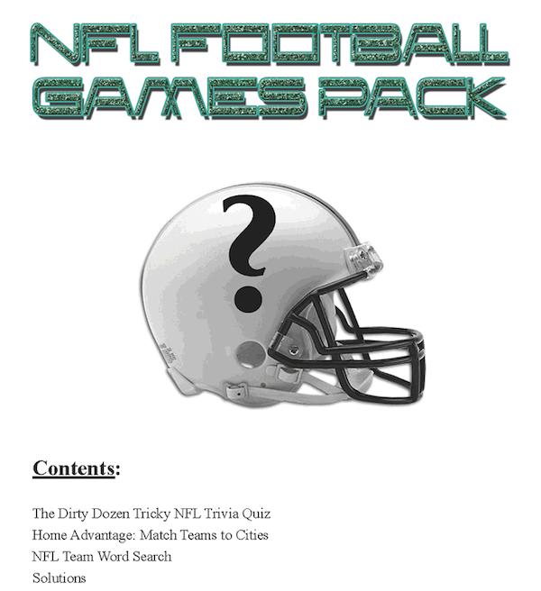 Printable-NFL Football-Games Pack