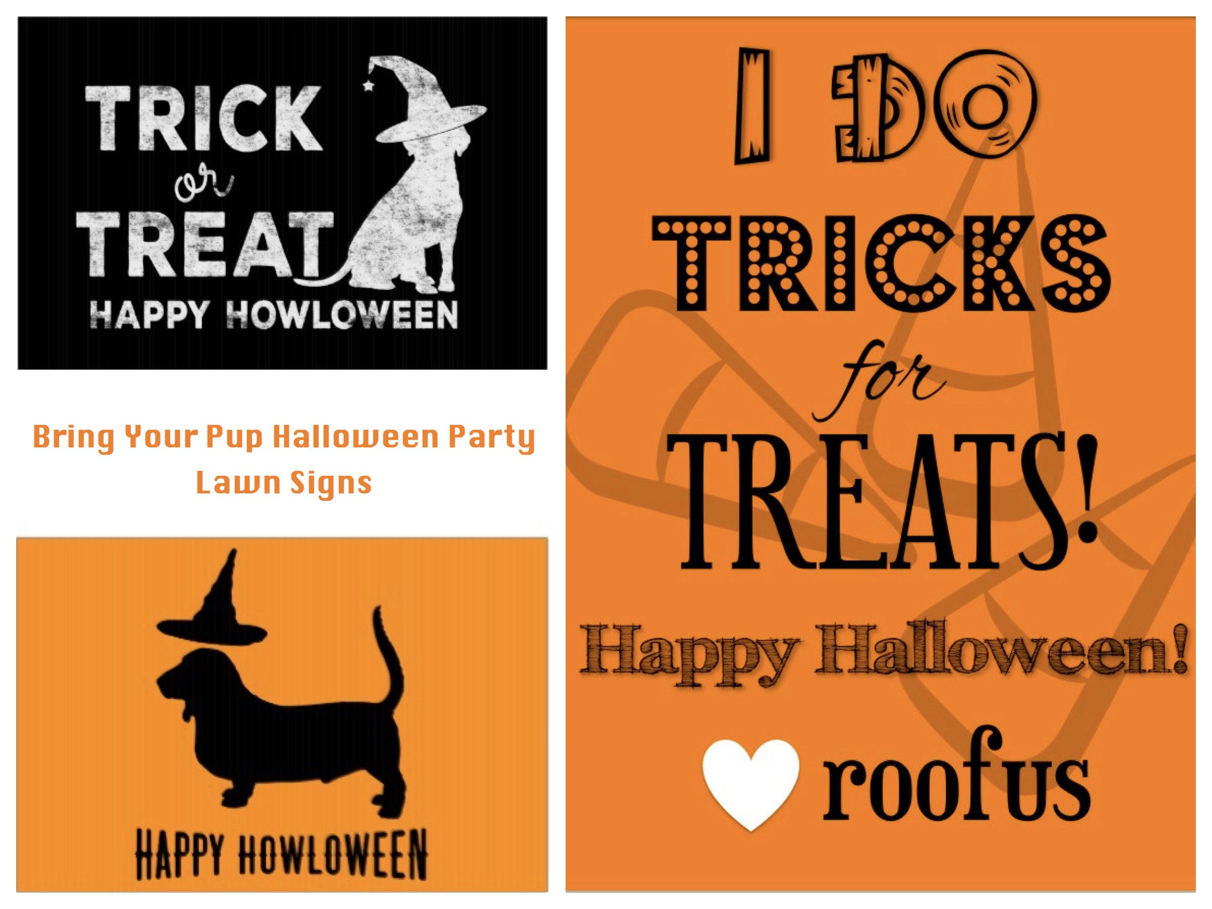 Bring Your Pup Halloween Party Lawn Signs