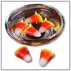 Candy Corn Floating Halloween Candles