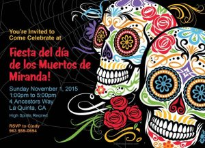 Day of the Dead Personalized Invitation