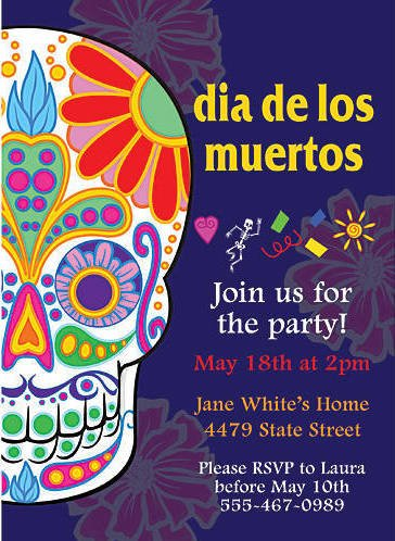 Day of the Dead Stationery Card Invitations