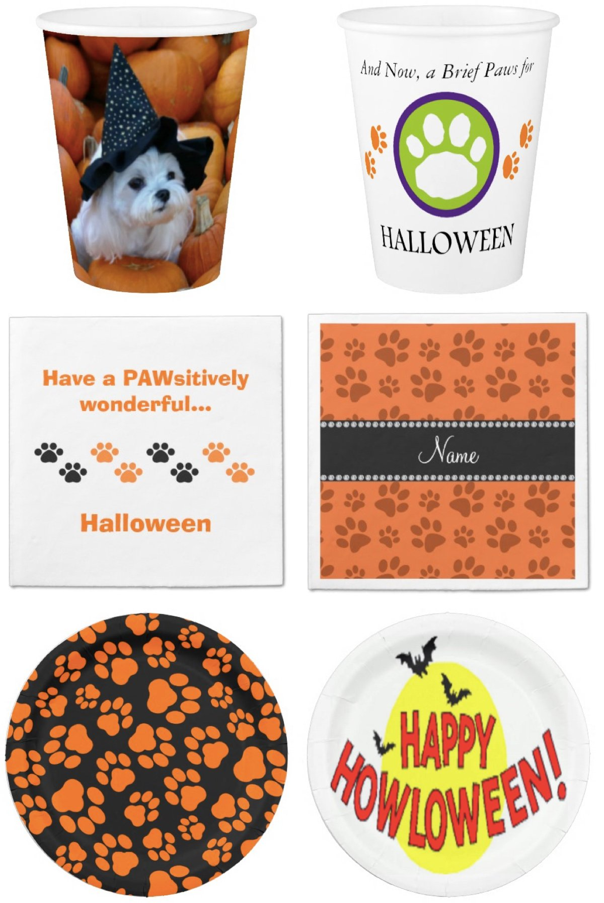 Dog Themed Halloween Paper Goods