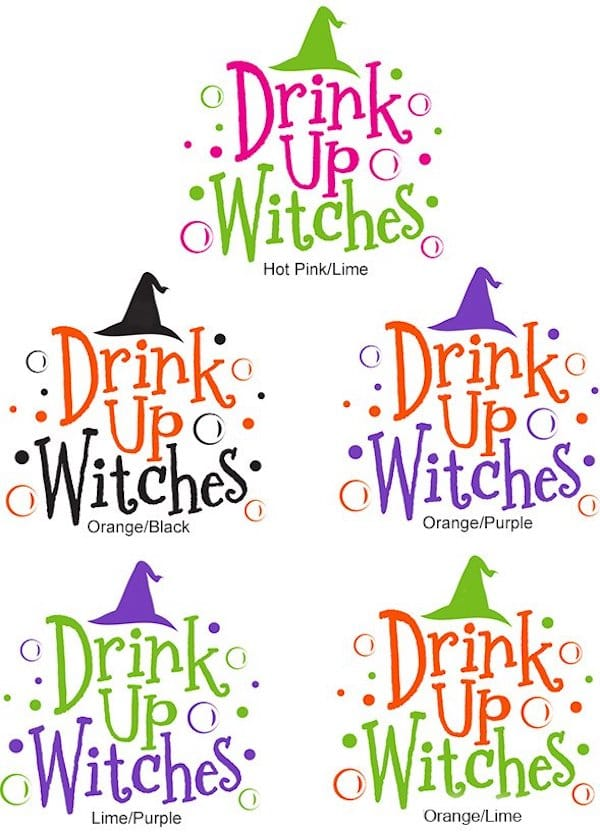 Drink Up Witches Cocktail Napkin Art