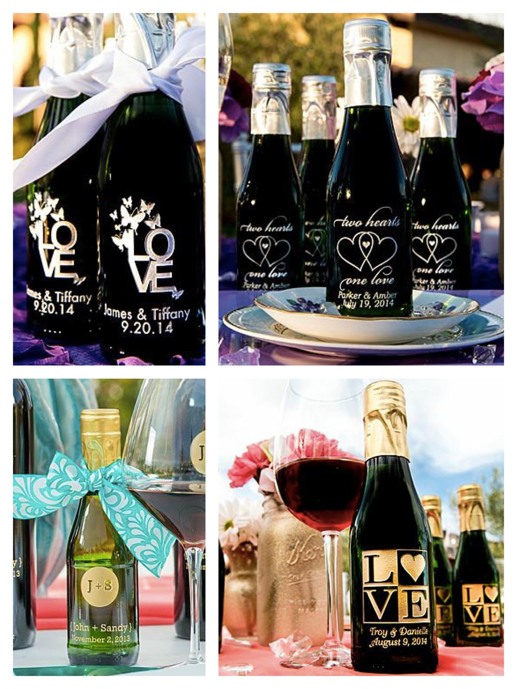 Etched Wine Party Favors and Welcome Bag Gifts