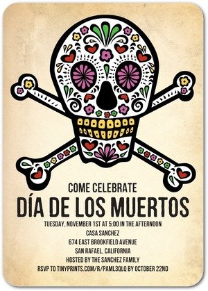 Halloween Day of the Dead Fiesta Invitations