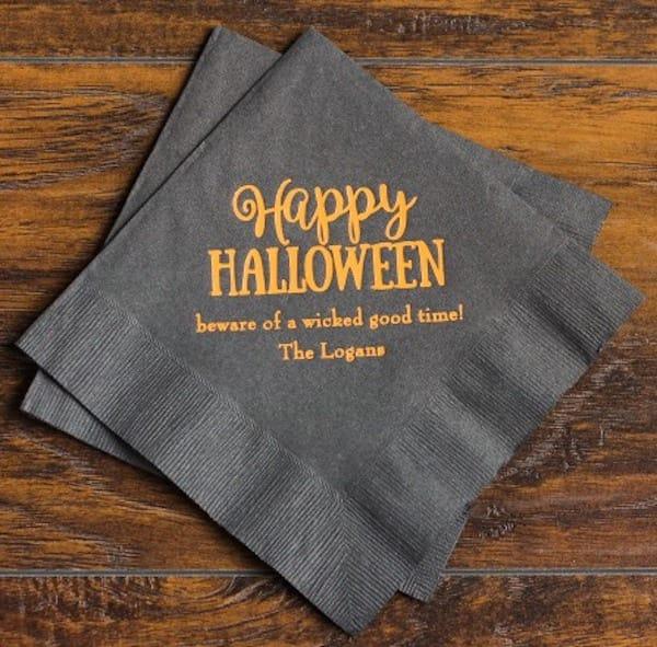 Happy Halloween Cocktail Napkins