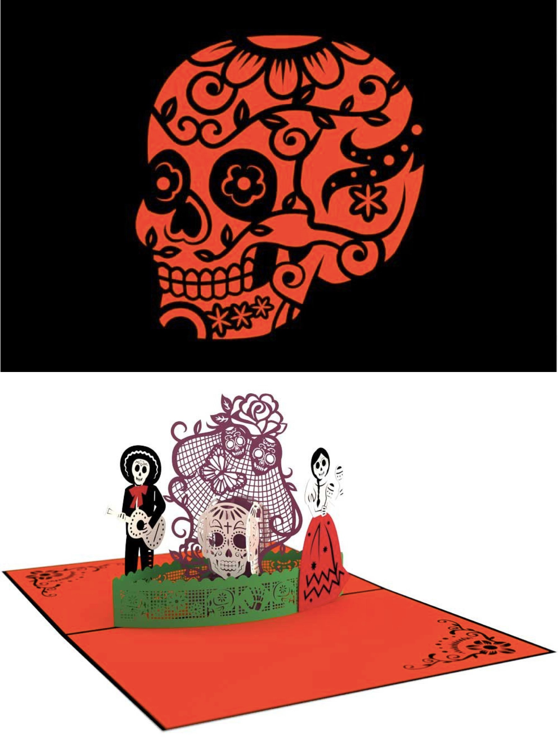 LovePopCards Day of the Dead Pop-Up Card