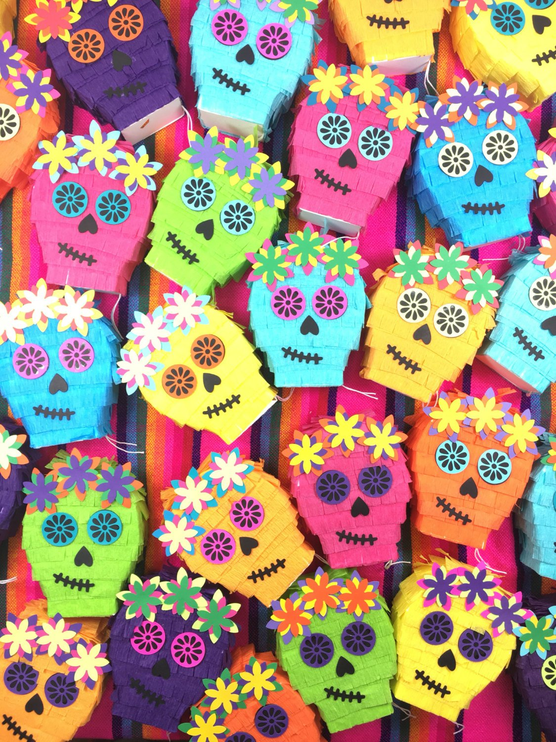 Mini Pinata Sugar Skull Day of the Dead Decorations