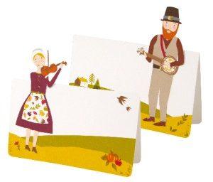 Pilgrim Die Cut Thanksgiving Place Cards