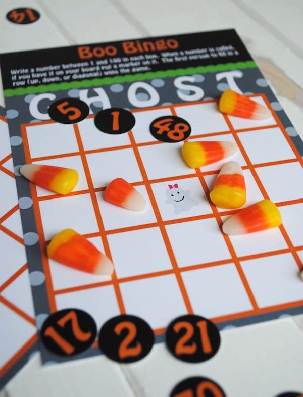 Printable Boo Halloween Bingo Game