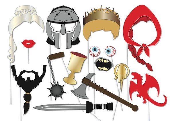 Printable Game of Thrones inspired Photo booth Props Set
