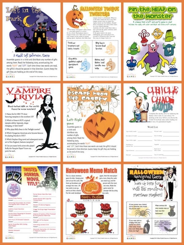 photo regarding Halloween Printable Games named Halloween Printable Game titles Social gathering Game titles