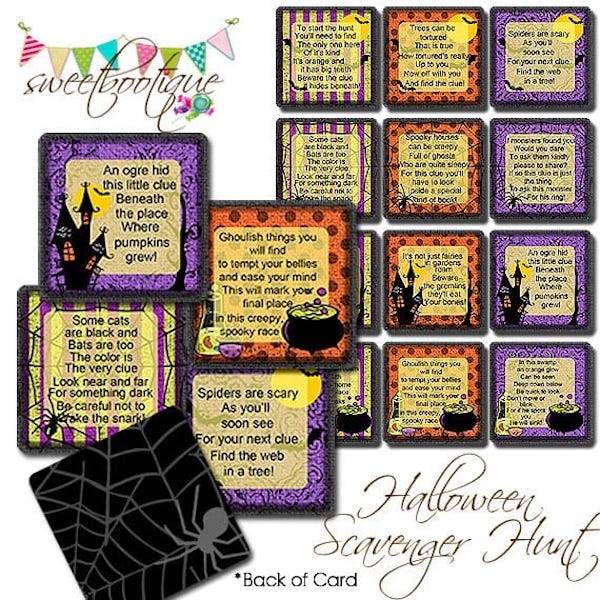 Printable Halloween Scavenger Hunt Game