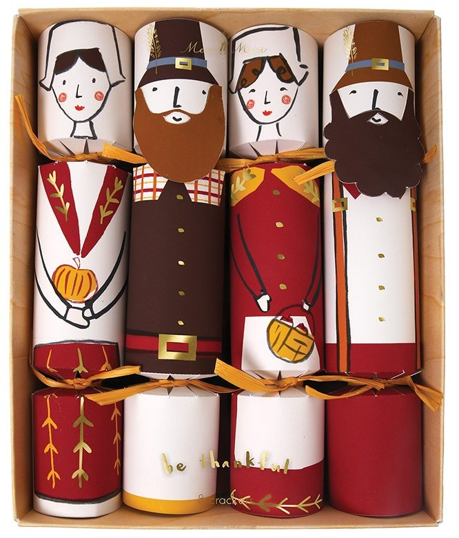 Thanksgiving Pilgrim Character Crackers