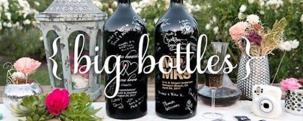 Etched Wine Bottle Guestbook Keepsake