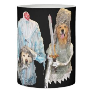 Golden Retriever Halloween Flameless Candles