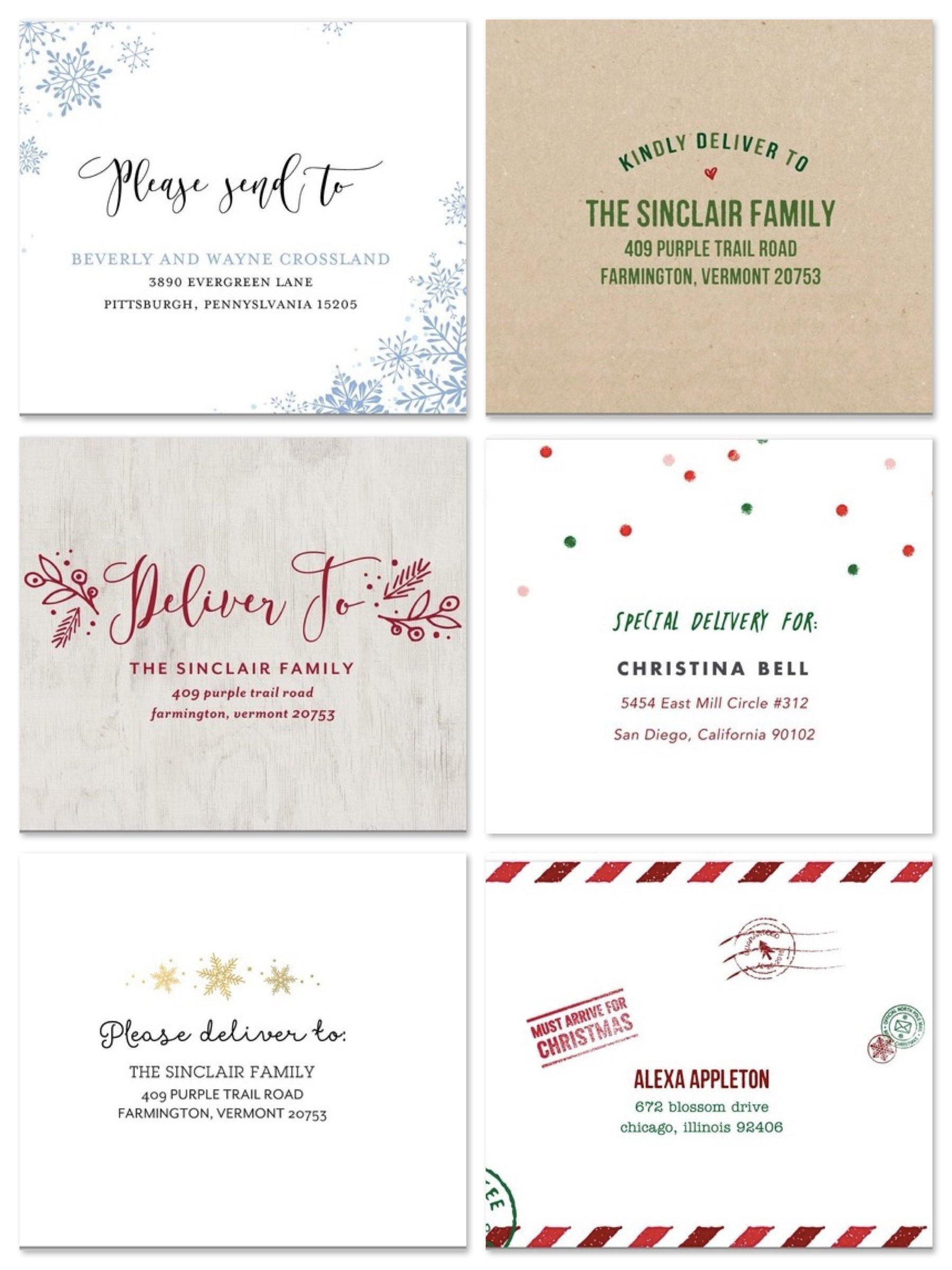 Custom Holiday Card Envelopes