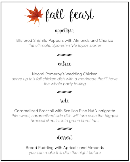 Fall Feast Dinner Party Menu
