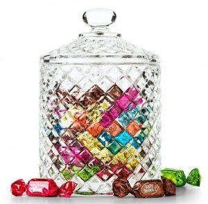 Gourmet Truffles in Keepsake Crystal Candy Jar
