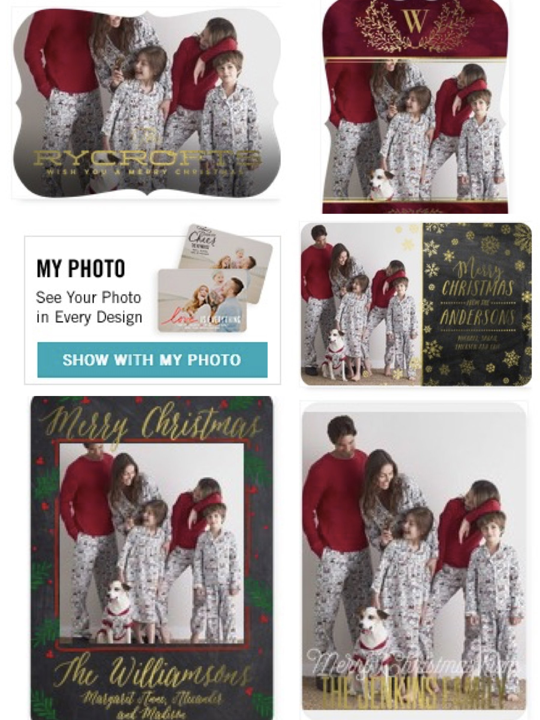 Merry Mutts Matching Holiday Pajamas in Tiny Prints Holiday Photo Cards, Matching Family Pajama Holiday Cards