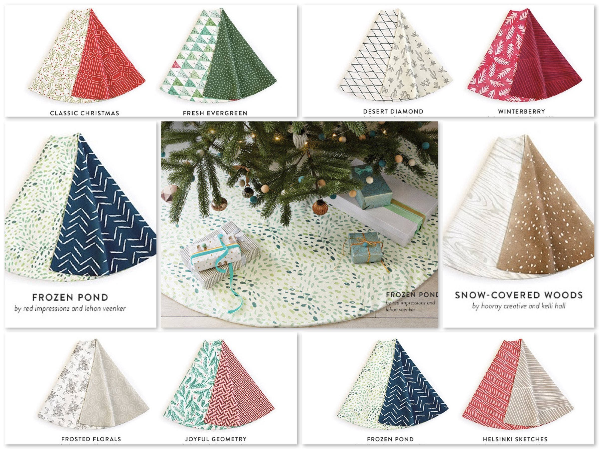 Minted's Reversible Christmas Tree Skirt