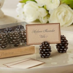 Pinecone Thanksgiving Place Card Holders