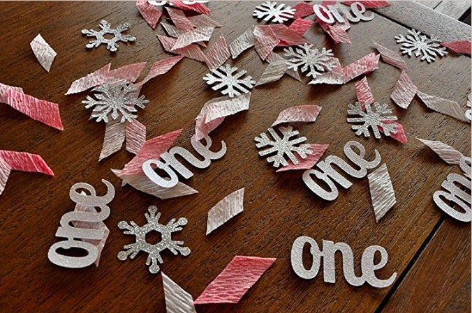 Pink Winter Onederland Party Decorations