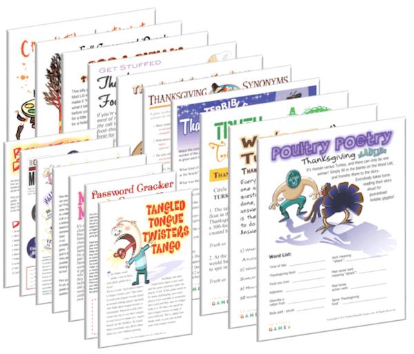 Printable Thanksgiving Game Pack