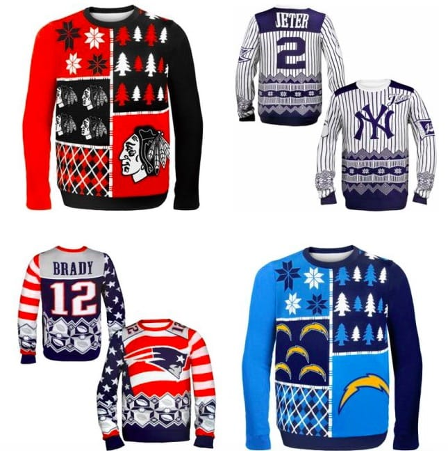 Professional Sports Teams Ugly Sweaters