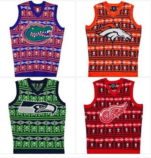 Sports Team Ugly Sweater Vests