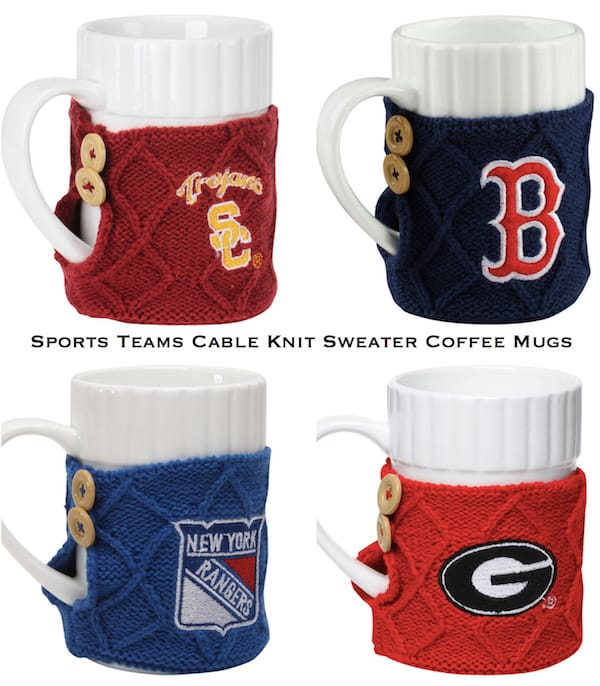 Sports Teams Cable Knit Sweater Coffee Mug