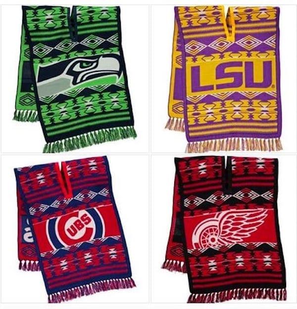 Sports Teams Knit Ponchos