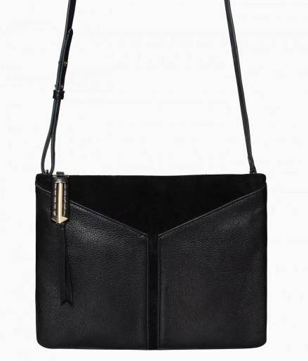 Stella & Dot Covet Highline Black Leather and Suede Handbag