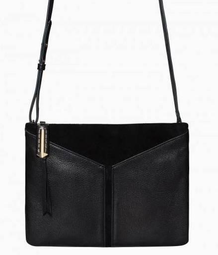 Stella & Dot Covet Highline Black Leather and Suede Handbag
