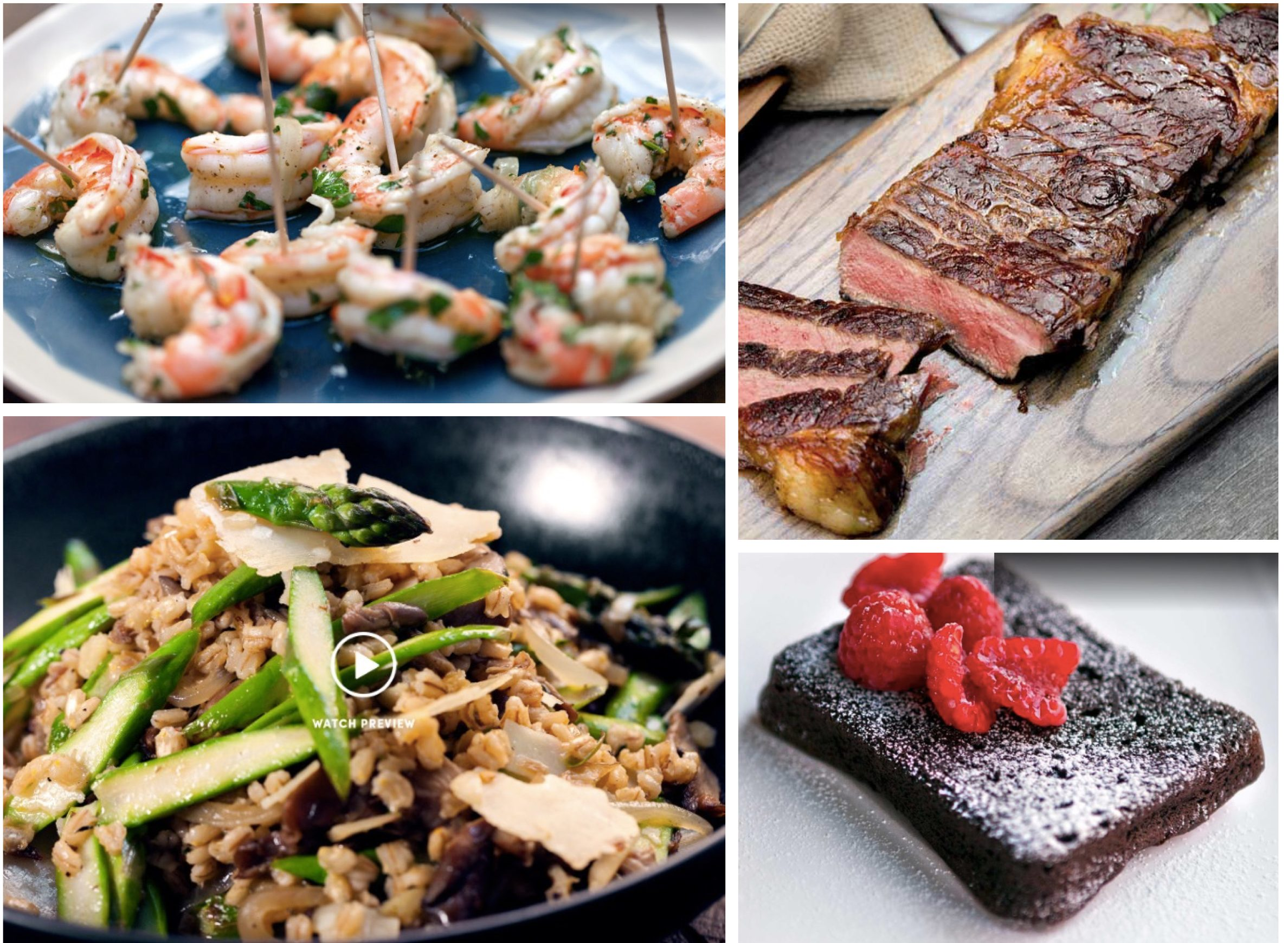 Surf and Turf Dinner Party Menus and Cooking Videos