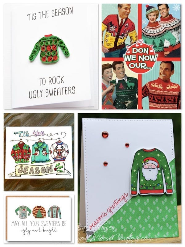 Retro & Ugly Christmas Sweater Cards