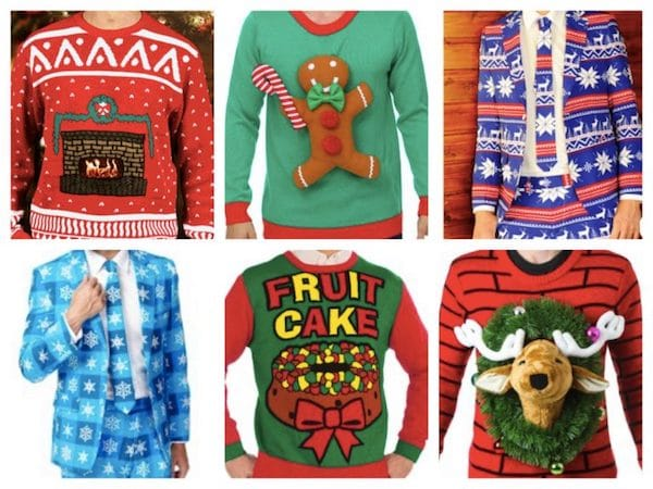 what to wear to an ugly christmas sweater party