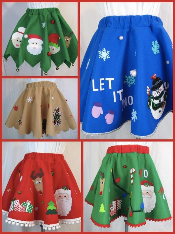 Ugly Christmas Sweater Party Christmas Skirt