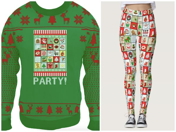 Ugly Christmas Sweater with Matching Leggings