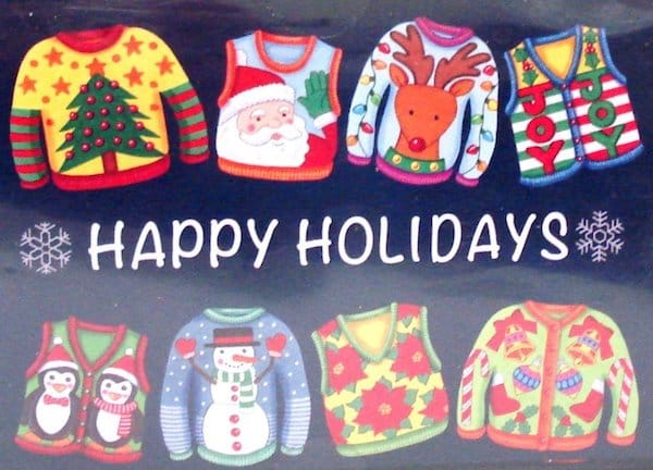 Ugly Christmas Sweater Holiday Greeting Cards