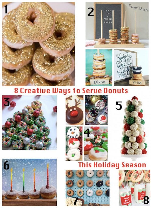 8 Creative Ways to Serve Holiday Donuts