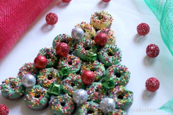 Christmas Donut Dessert Tree