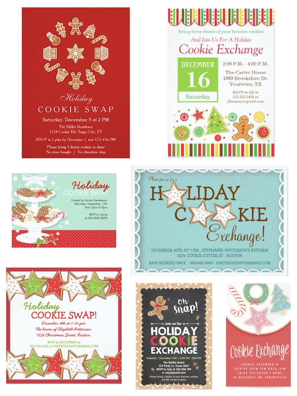 Cookie Exchange Holiday Party Invitations