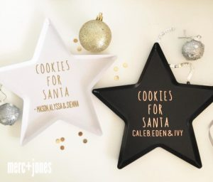 Cookies for Santa Personalised Cookie Tray