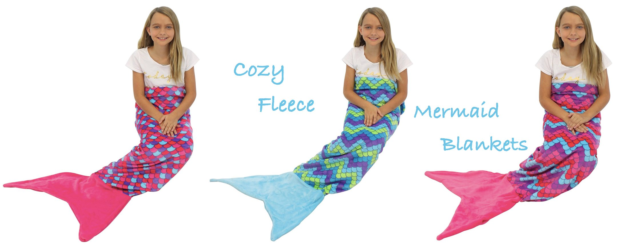 Cozy Fleece Mermaid Blankets