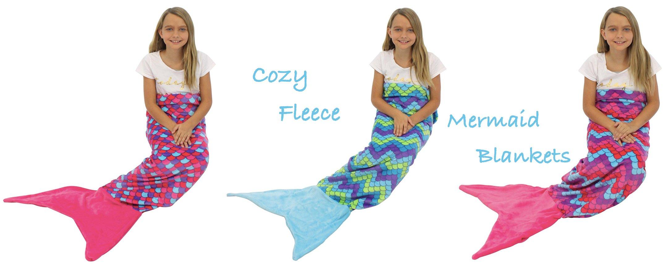 Cozy Fleece Mermaid Blankets