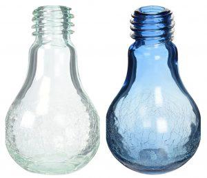 Crackled Light Bulb Vases