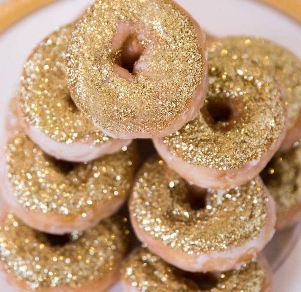 Glittery Donuts