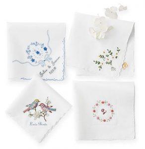 Hand Embroidered Heirloom Handkerchief