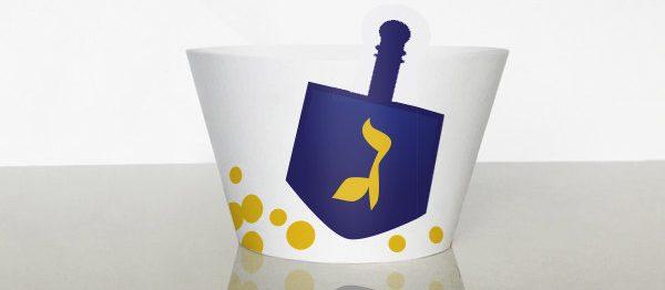 Hanukkah Dreidel cupcake wrappers